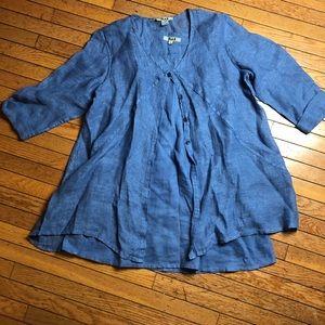 Flax 2 Piece Long Tunic Linen Top